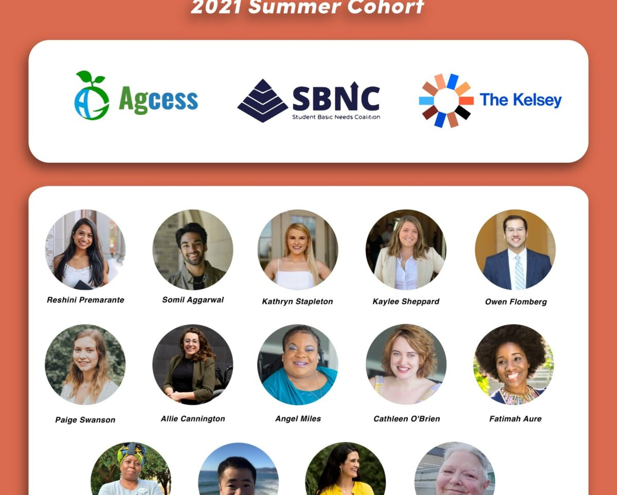 Rise Justice 2021 Summer Cohort of three teams from different organizations
